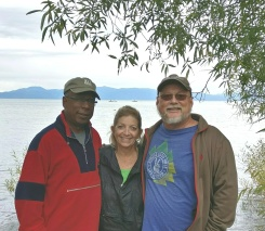 Roque and me with Len at Lake Tahoe