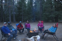 Ruthann, Bobby, Len, Nia, Roque and me at our campsite dinner party
