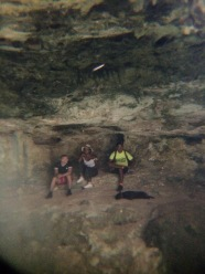 Ramon and fellow campers in the cave